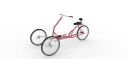 Three wheel bike - Keyshot